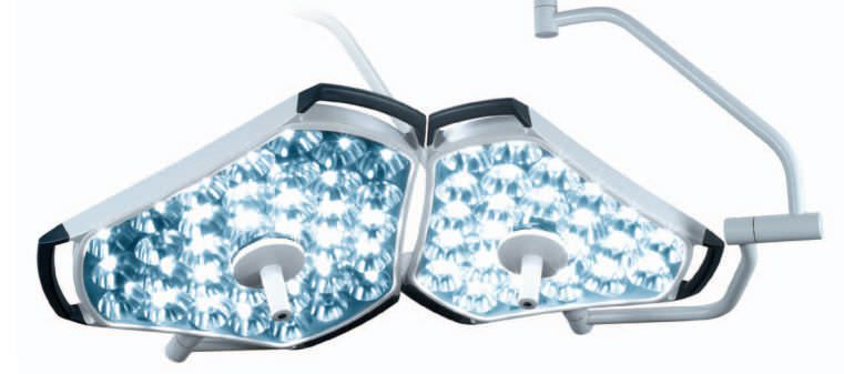 LED surgical light / ceiling-mounted / 2-arm SIM LED 7000 SIMEON Medical