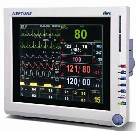"Compact multi-parameter monitor / anesthesia Neptune 15"" Siare"