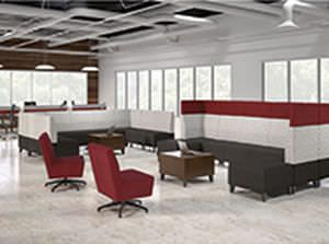 Waiting room / modular / for healthcare facilities Fringe National Office Furniture