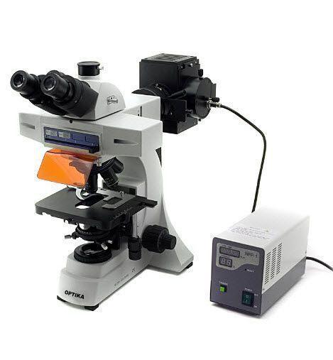 Laboratory microscope / HBO fluorescence / trinocular B-500TiFL Optika Italy