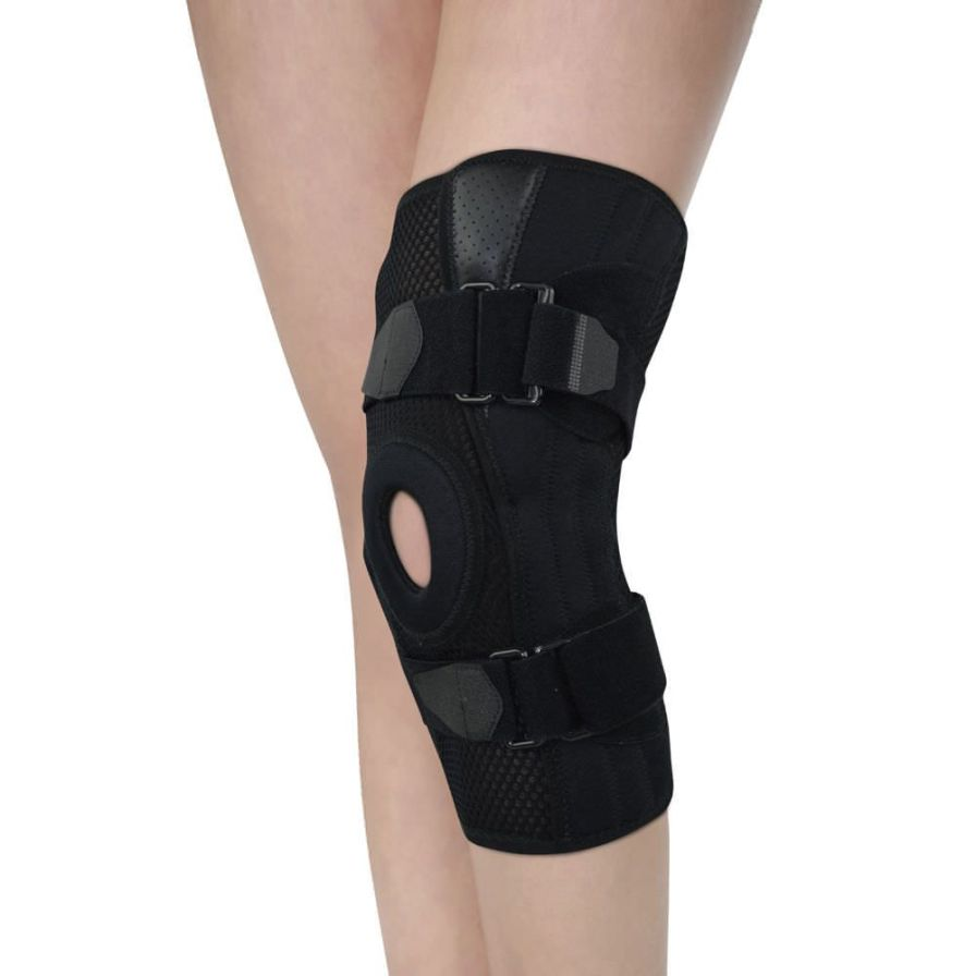 Knee orthosis (orthopedic immobilization) / open knee / with patellar buttress / with flexible stays AS-KX-01 Reh4Mat