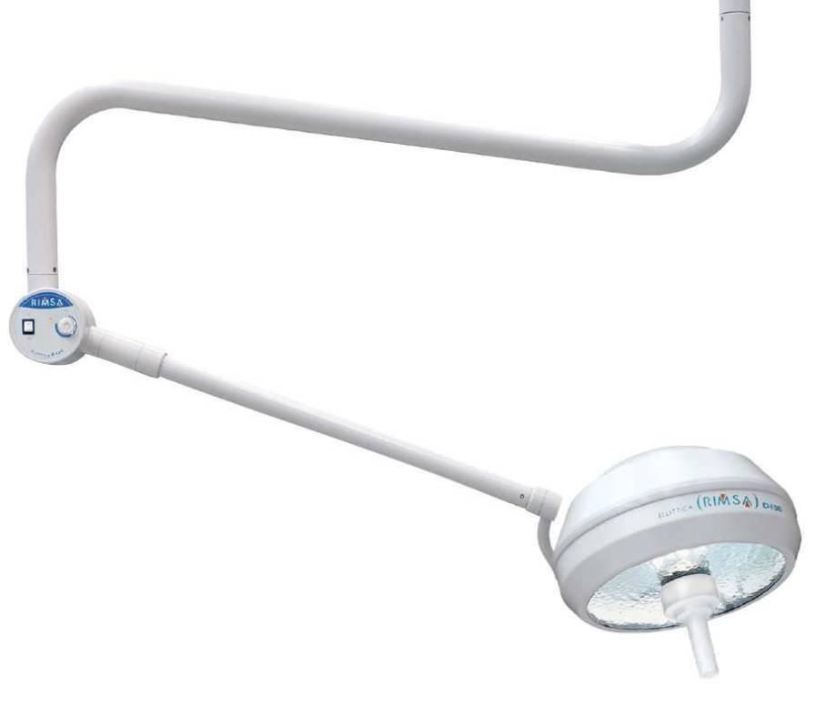 Halogen surgical light / ceiling-mounted / 1-arm 100 000 lux | D400 Rimsa P. Longoni