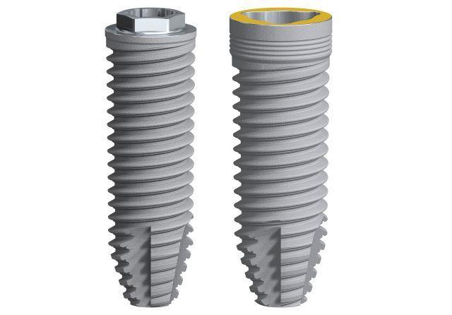 Cylindrical dental implant / titanium NobelSpeedy Nobel Biocare Services AG