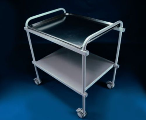 Instrument table / on casters / stainless steel / 2-tray D5501 RQL - GOLEM tables