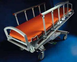 Transport stretcher trolley / X-ray transparent / height-adjustable / hydraulic GOLEM EME RQL - GOLEM tables