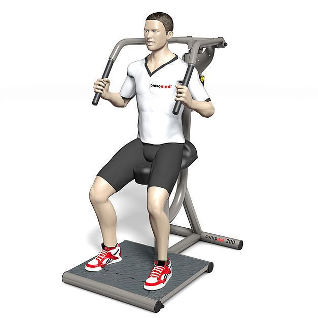 Weight training station (weight training) / shoulder press / traditional 10666400 proxomed Medizintechnik