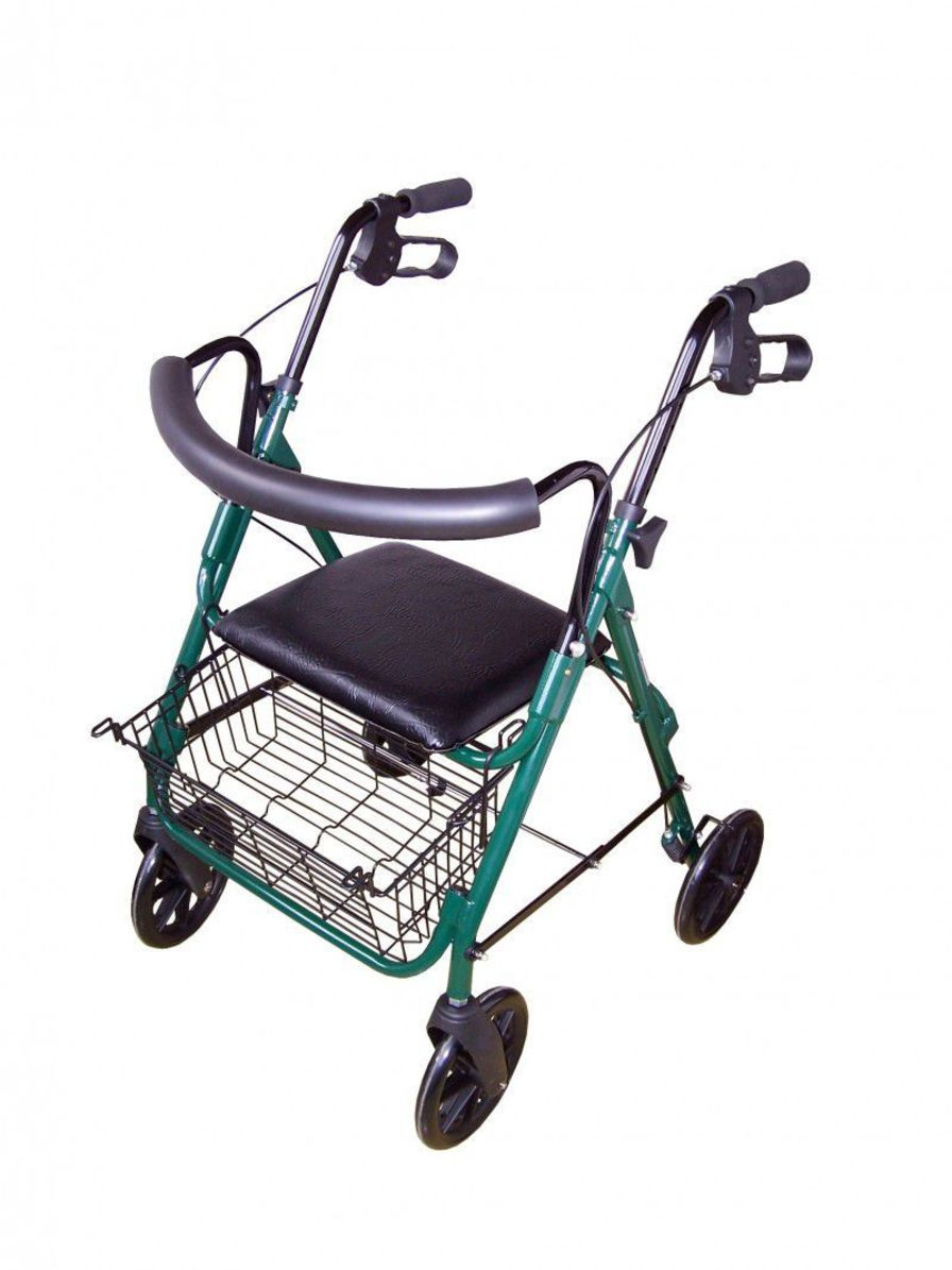 4-caster rollator / folding / with seat 130 kg | ZPT-3521 PROMA REHA