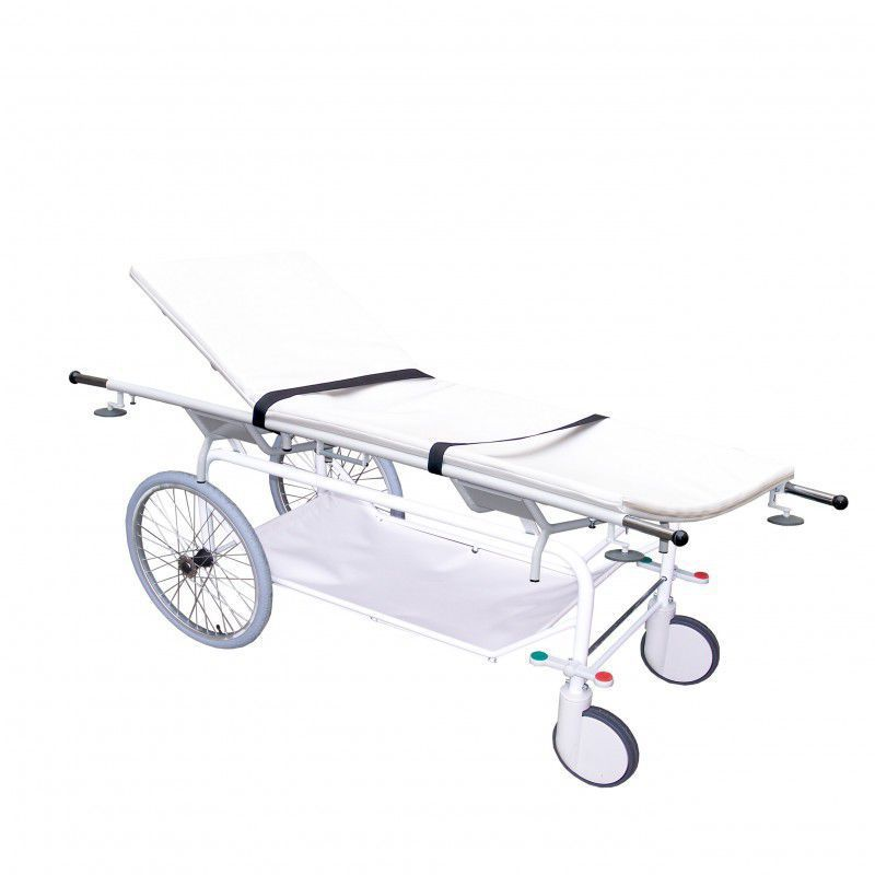 Patient transfer stretcher trolley / folding / mechanical / 2-section 170 kg | N66 PROMA REHA