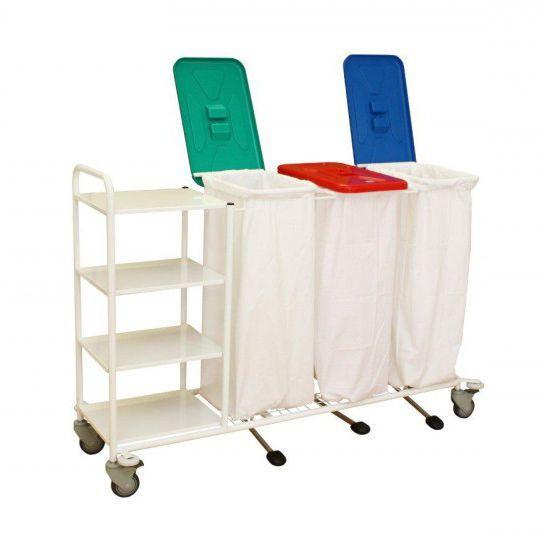 Linen cart / 4-shelf / 3-bag VN3PS PROMA REHA