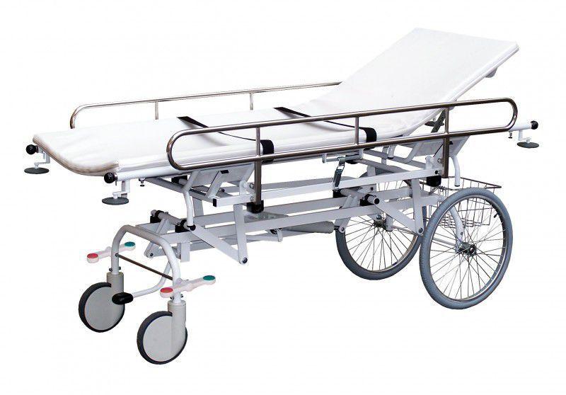 Transport stretcher trolley / height-adjustable / folding / hydraulic 170 kg | H66 PROMA REHA