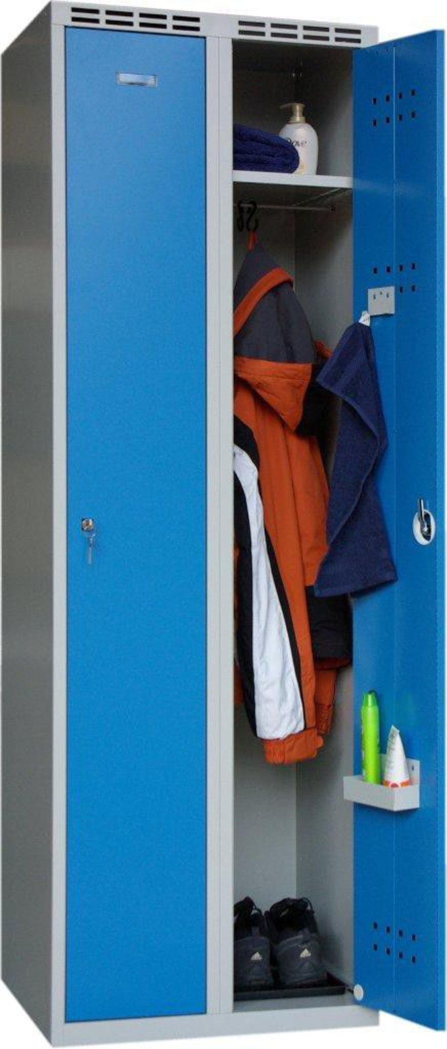 Medical cabinet / patient room / with clothes rack / with drawer S-1 PROMA REHA