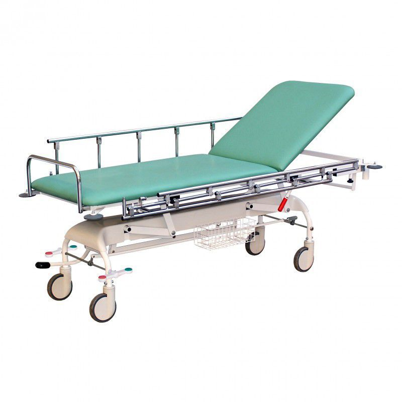 Emergency stretcher trolley / height-adjustable / electrical / 2-section 170 kg | URGENT PROMA REHA