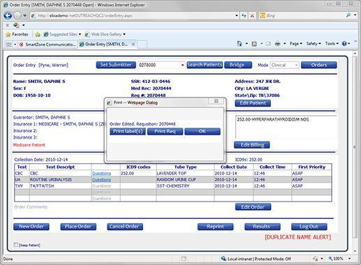Data management web application / laboratory e.outreach™ Psyche Systems Corporation