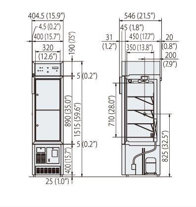 Blood bank refrigerator / cabinet / 1-door MBR-107D(H) Panasonic