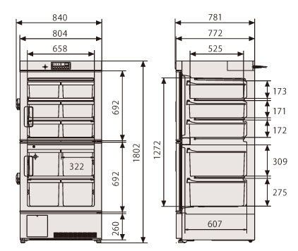Laboratory freezer / cabinet / compact / 1-door MDF-U5312 Panasonic