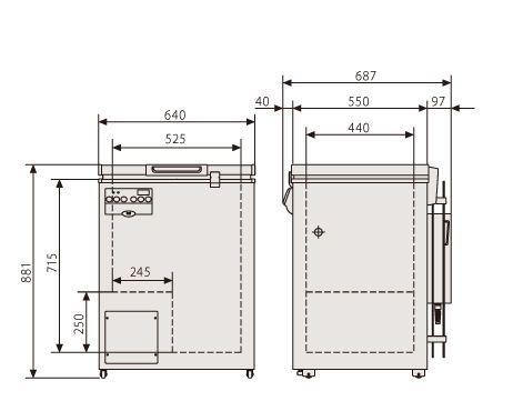 Laboratory freezer / chest / 1-door MDF-137 Panasonic