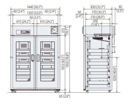 Blood bank refrigerator / cabinet / 2-door MBR-1405GR Panasonic