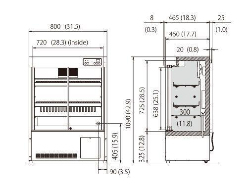 Pharmacy refrigerator / cabinet / 1-door MPR-S163 Panasonic