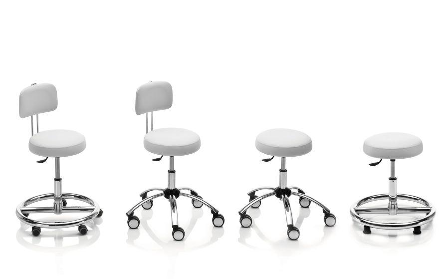 Medical stool / height-adjustable NOVAK M