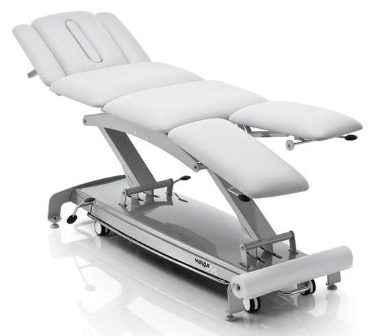 Electrical massage table / height-adjustable / on casters / 4 sections S4 NOVAK M