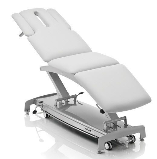 Electrical massage table / on casters / height-adjustable / 3 sections S3 NOVAK M
