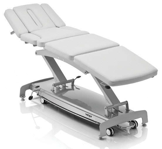 Electrical massage table / on casters / height-adjustable / 4 sections S8 osteo NOVAK M