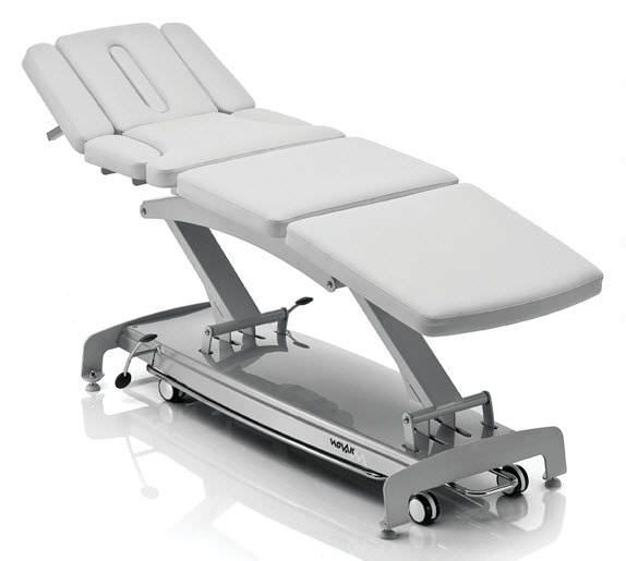 Electrical massage table / on casters / height-adjustable / 4 sections S8 osteo luxury NOVAK M
