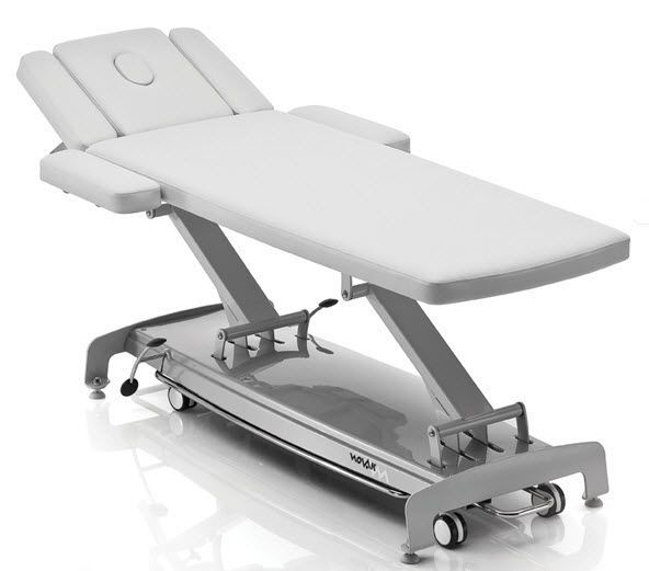 Electrical massage table / height-adjustable / on casters / 2 sections S exclusive NOVAK M