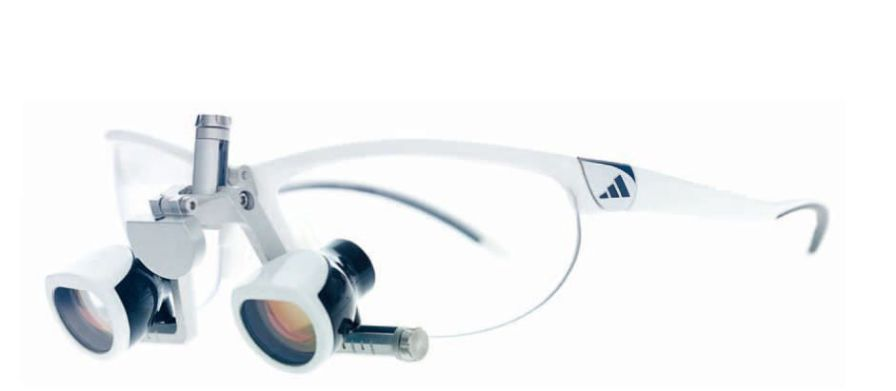 Magnifying loupe with frames opt-on / spot-on orangedental