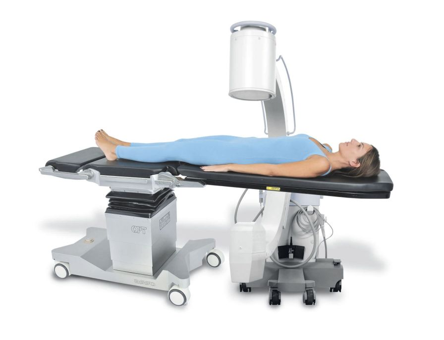 Universal operating table / electro-hydraulic / X-ray transparent / on casters OPT ASSO OPT SurgiSystems Srl