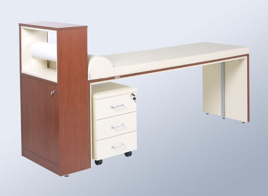 Fixed examination table / 1-section / with storage unit NTHM 096 Nitrocare