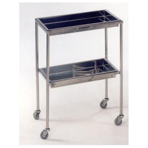 Stainless steel instrument table / on casters / auxiliary / 2-tray M096 Mobiclinic