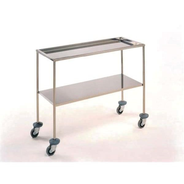 Instrument table / on casters / stainless steel / 2-tray M100 Mobiclinic