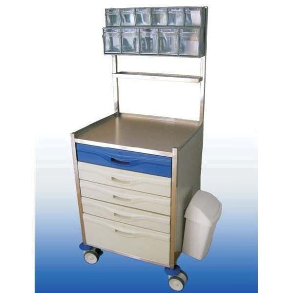 Medicine distribution trolley / stainless steel M1004 Mobiclinic