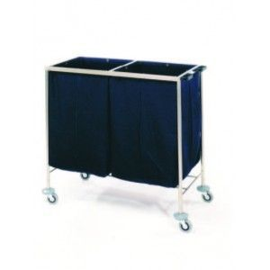 Linen trolley / stainless steel / 2-bag Mobiclinic