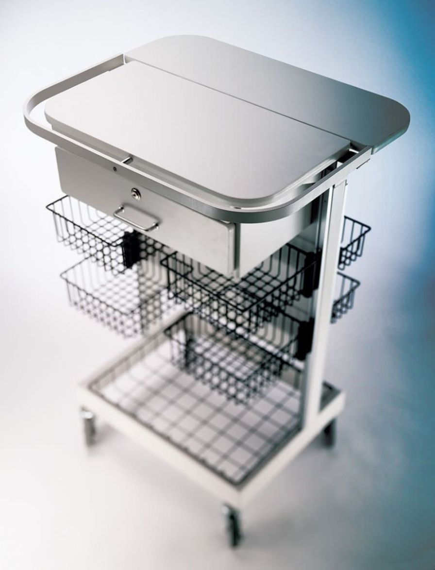 Treatment trolley / with basket Modular Services Company