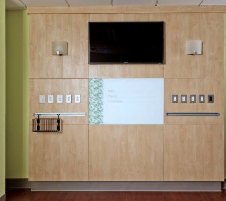 Wall-mount supply unit / with plug sockets Form™ Modular Services Company