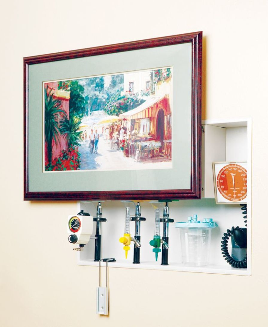 Supply unit with plug sockets / wall-mount ArtWorks™ Modular Services Company