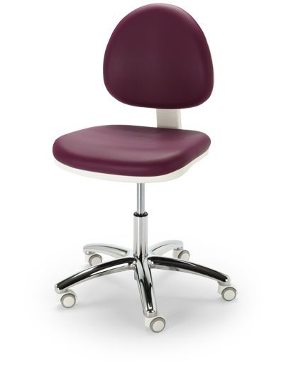 Medical stool / height-adjustable / on casters / with backrest COSMOS NAMROL