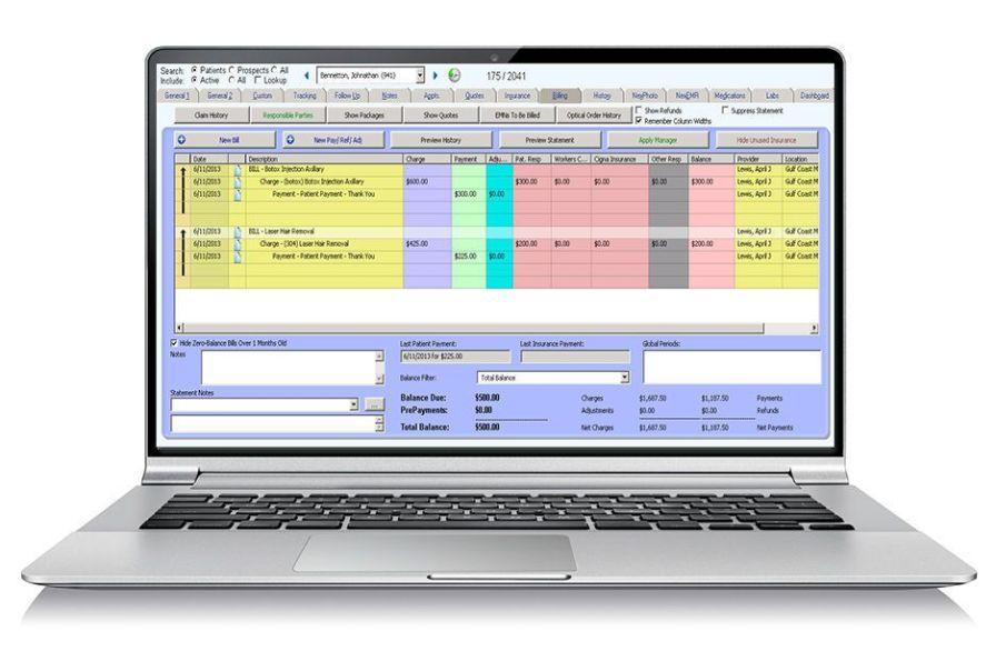 Management software / reporting / billing / medical Nextech