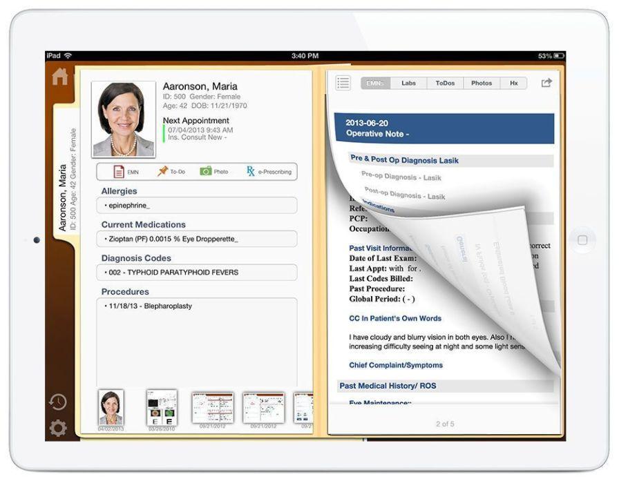 Patient data management software / medical / EMR Mobility Nextech