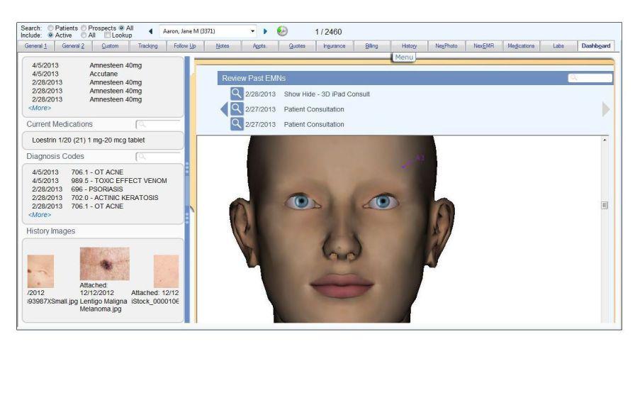 Data management software / medical / for dermatology service Nextech