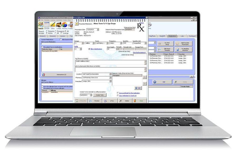 Patient data management software / medical / EMR Nextech