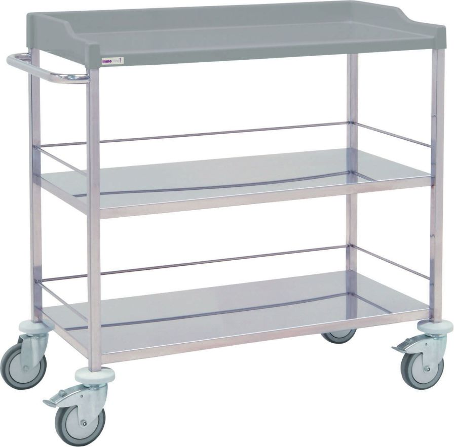 Multi-function trolley / stainless steel / 3-tray 10810 Inmoclinc
