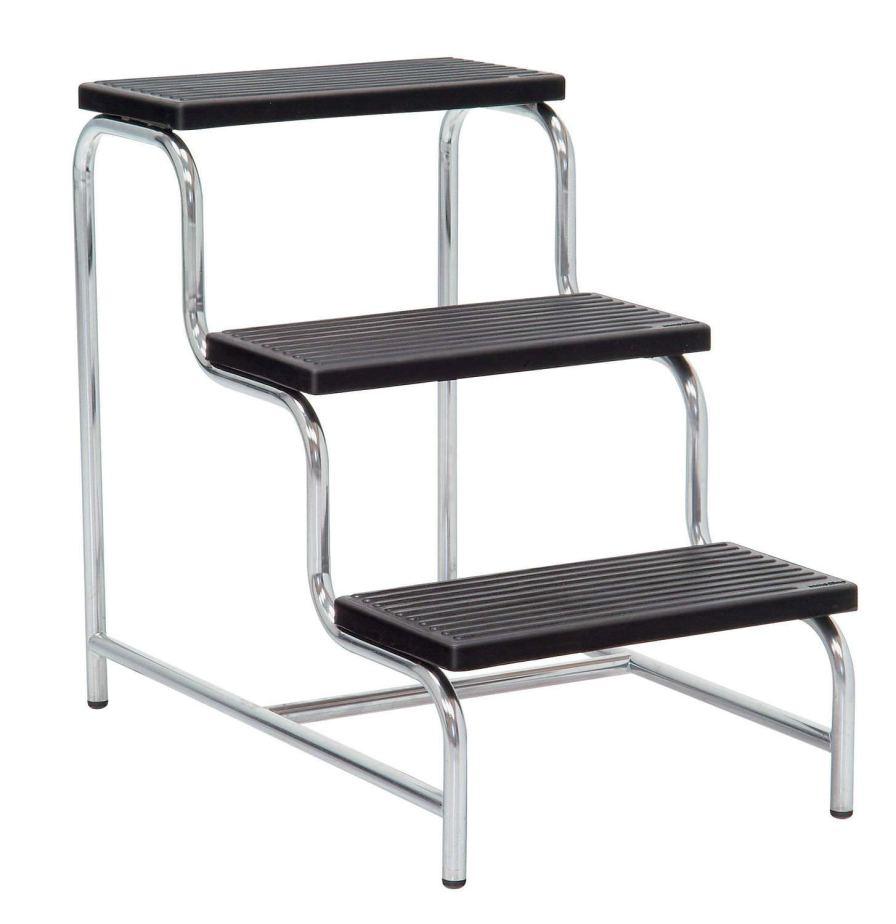 3-step step stool / stainless steel 5021 Inmoclinc