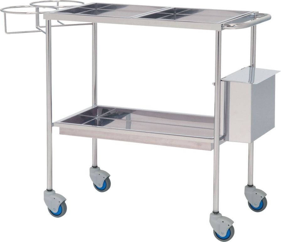 Treatment trolley / stainless steel / 2-tray 10146 Inmoclinc