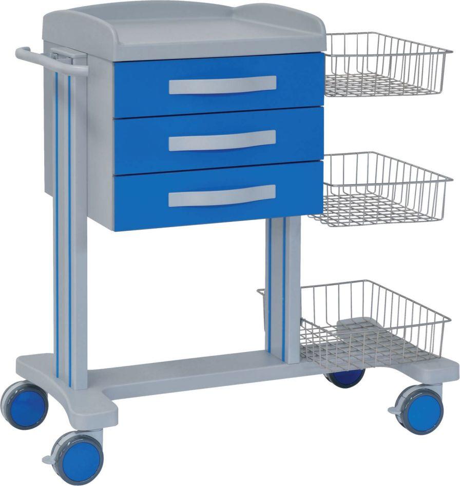 Multi-function trolley / with basket / 3-drawer 70080 Inmoclinc