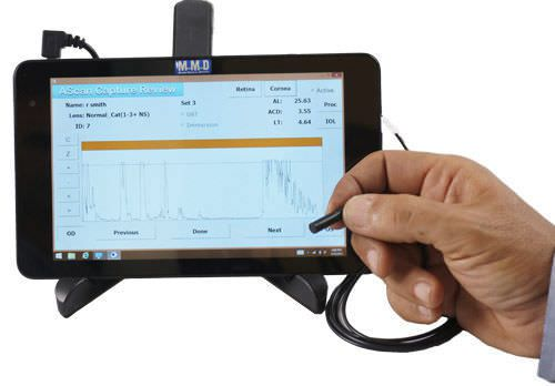 Ophthalmic biometer (ophthalmic examination) / ultrasound biometry / hand-held A2000 A-Scan Tablet Micro Medical Devices