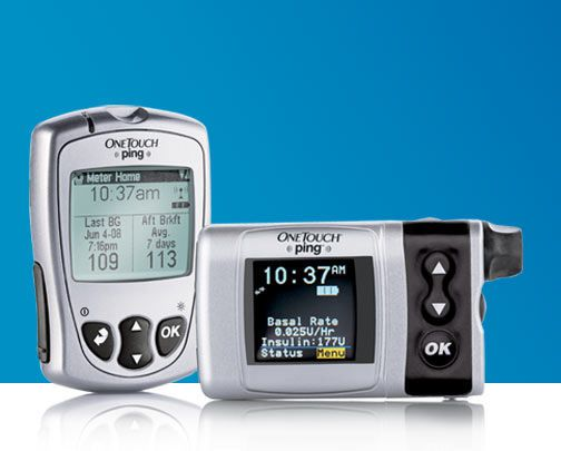 Insulin pump with continuous blood glucose meter OneTouch® Ping® Lifescan