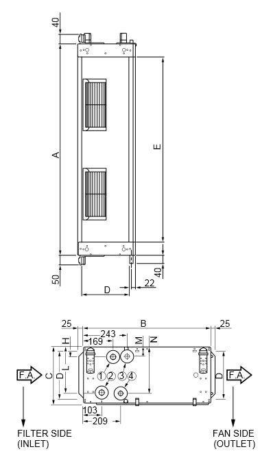 Duct fan coil unit / for healthcare facilities QZHR Fläkt Woods Group